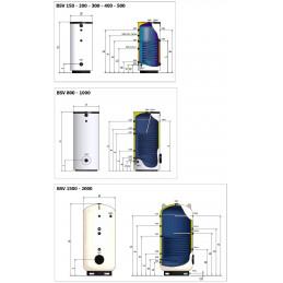 Zbiornik  buforowy ELBI BSV 150 solarny na wodę- z 1 wężownicą
