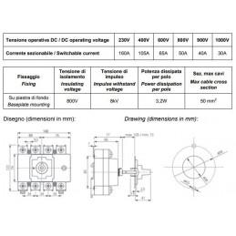 Rozłącznik izolacyjny PV 4P 1000V 160A DC 3591201-W160-0