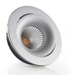LAMPA LED 7W WPUSZCZANA RUCHOMA GIOVE 1 SREBRNA