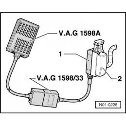 VAS 1598/33 NARZĘDZIE SERWISOWE VW AUDI SEAT SKODA