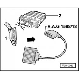 VAS 1598/18 NARZĘDZIE SERWISOWE VW AUDI SEAT SKODA
