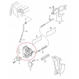 4B1837015G Zamek drzwi z wyłącznikiem drzwiowym ORYGINAŁ