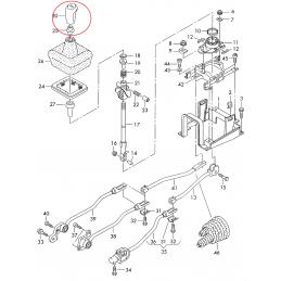 4B0711141AF C72 Galka dźwigni zmiany biegów skóra antracyt