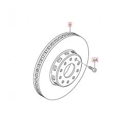 3D0615301K Tarcza hamulcowa (wentylowana) ORYGINAŁ