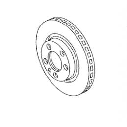 1J0615301R Tarcza hamulcowa (wentylowana) ORYGINAŁ