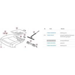 1K0881405HDRCK - Poszycie siedziska (tkanina) z elementem