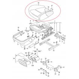 6Q0881405A MWJ Tapicerka siedziska (materiał) antracyt VAG